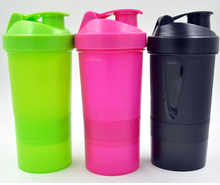 Fashion design sport shake bottle / plastic shake protein bottle / Plastic Blender Bottle
