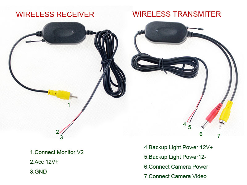 Wiring Diagram For Wireless Backup Camera on wirerless backup camera wiring diagram