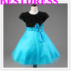 2015 New Fashion Girl Dress Pink Party Children Dress For Summer Kids clothing