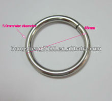 factory direct selling metal plated O ring,round carabiner from China