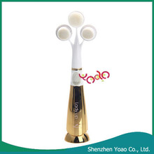 Top Selling 3D Sound Wave Vibration Three Heads Eletric Face Cleaning Brush