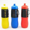 Luz de silicona portátil plegable botella de agua de artículos deportivos