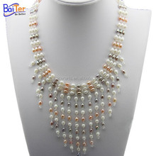 Wholesale pearl necklace designs pearl necklace, fashion freshwater pearl pendant necklace
