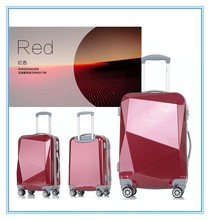 4 wheels trolley ABS+PC luggage travel bags suitcase travelling bags trolley luggage