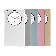 korean style smart flash design flip phone quick circle case for lg g4