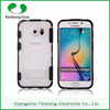 Transparent waterproof shockproof 2 in 1 dual layer TPU PC cell phone case for samsung galaxy s6 with stand function