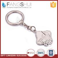High quality zinc alloy solid metal keychains