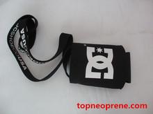 neoprene beer bottle holder sleeve black beer bottle sleeve with black string