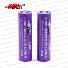 Wholesale efest battery efest 18650 35amp 2500mah 3.7v rechargeable purple Efest battery