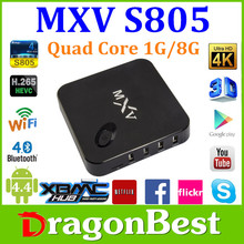 Hot!!!Best Mxv Quad Core H.265 4K2K Amlogic S805 Android4.4 Android Tv Box Mxv Than M8 Mxiii Mx Mxq