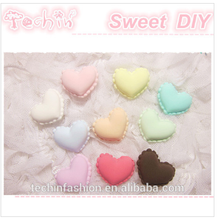 Polymer Clay Fake Macarons 1.5cm Heart Shape Sweet Macarons Decoration Accessories Simulation Food Crafts