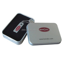 Gold supplier sell tinplate U-disk tin box/USB flash drive tin box