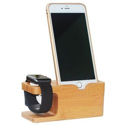 Hot New Bamboo Wood Stand Station Charging Dock for Apple Watch Station and for iPhone 6