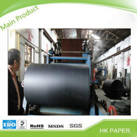 Chinese paper manufacturer wholesale black cardboard paper for making photo frame
