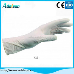 Disposable sterile latex free surgical hand gloves with cheap price X12
