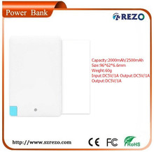 new products 2015 technology mosaics power bank 2000mah power bank external battery charger for ht