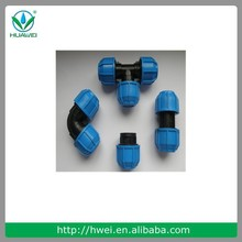 Best quality agriculture irrigation pp compression fitting water supply Female tee