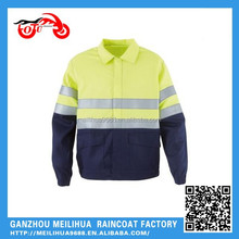 2015 New advanced reflective tapes waterproof breathable safety coat
