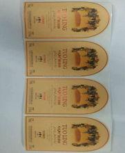 Barato y alta calidad logotipo personalizado de impresión grabado de vino máquina de etiquetas