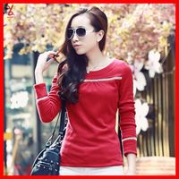 Free shipping FR53 Pierced plus thick velvet backing long-sleeved shirt new Slim yards wild autumn and winter coat sweater