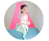 Modern top and skirt 2 pieces color matching girl daily wear clothes new model girl dress