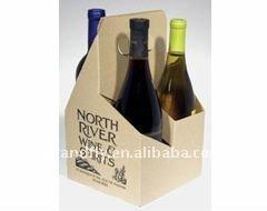 4-Bottle Corrugated Cardboard wine carriers