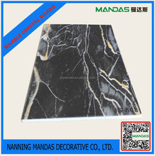 High quality PVC imitation marble for wall decoration.
