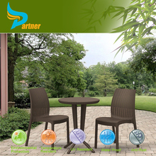 2015 Outdoor Round Rattan 2 Seat Dining Table and Chairs Wicker Dining Table Seat Outdoor Furniture