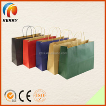 2015 Super Quality Craft Shopping Paper Bag With String Handles Wholesale
