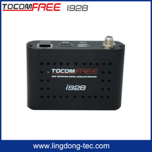 Tocomsat set top box Tocomfree i928 with free iks receptor satellite for south america