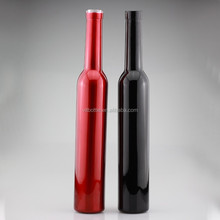 Custom made ice wine bottle 375ml bowling shape bottle oil glass bottle