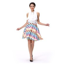 Wholesale Young Girl Summer Holiday A Line Skirts Colorful Printing Skirt