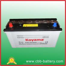 Direct Factory 12V Battery 105AH Korea Designed Calcium Lead Acid DIN Car Battery