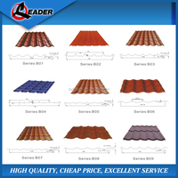 Price of color coating roofing tiles