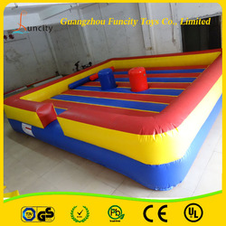 Exciting 0.55mm PVC Tarpaulin inflatable jousting field/inflatable fighting game