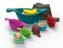 leaf shaped silicone fruit bowl,special design silicone decorative tray,foldable silicone dinner bowl