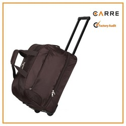 double deckers two layers rolling trolley travel duffle bag