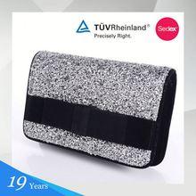 2015 Latest Design Glitter+Fabric Manufacturer Export Handbags