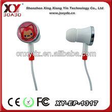 Cheap price logo printing for music player 2012 fashion earphone