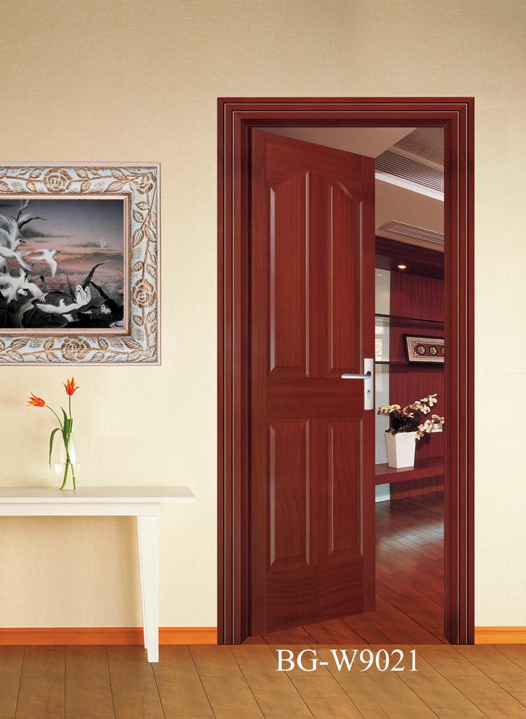Bg w9045 wooden main door design new design wooden door for New single door design