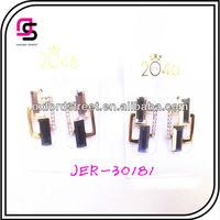 Funky Crystal Earrings,Minimalist Gold Alloy Earrings,Garden Party Diamond Set