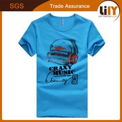 2016 Wholesale 100 cotton fabric for t-shirt fashion design custom print t-shirt new supply t-shirt manufacturer