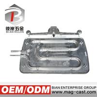 Aluminum die casting double frying pan frying pan handle