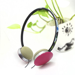 Cute colorful bright colored lightweight stereo headphones for girls