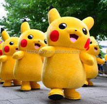 HI CE hot sale pikachu mascot costume, used mascot costumes for sale