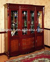 antique french style living room wine cabinet, curio cabinet, showcase B46109