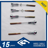 2.0mm galvanized steel cable with shrank ball and thread rod