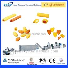 Alibaba express twin screw core filling puffed corn snack food extruder machine
