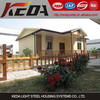 Mobile Prefab Light steel villa House for cottage log cabin