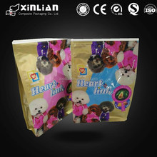 Square bottom dog treat packaging/pet foods packaging plastic bag for animal feed